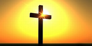 EASTER CROSS AND SUNSHINE