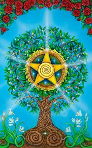 Ace Of Pentacles In A Tree