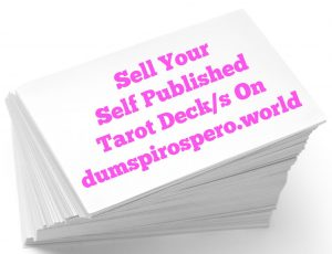 Sell Your Self Published Tarot Deck Here
