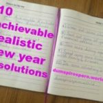 10 Achievable, Realistic New Year Resolutions