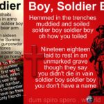 Soldier Boy Soldier Boy – A Remembrance Day Poem